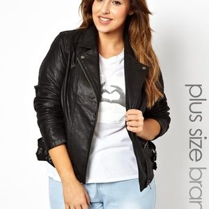 ASOS Curve Jackets & Coats - ASOS Curve Plus Size Moto Jacket Black 3X